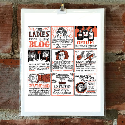 The Ladies' Mothering Blog 8 x 10 Print