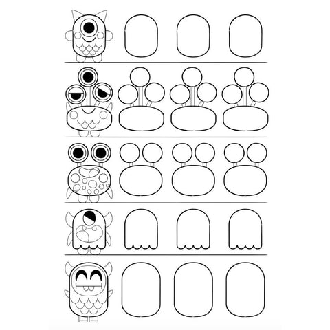 FREE Download! Monsters to Draw Activity Sheet by Pintachan