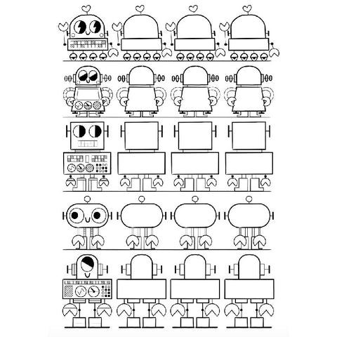 FREE Download! Robots to Draw Activity Sheet by Pintachan