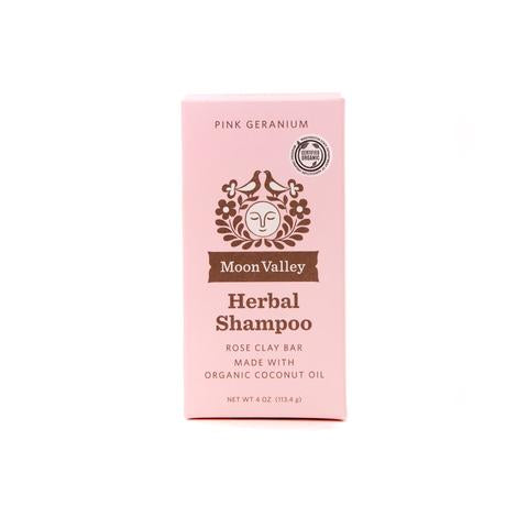 Pink Geranium Herbal Shampoo Bar