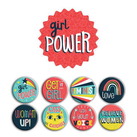 Girl Power Buttons