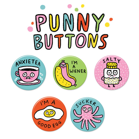 Punny Buttons • Pack #1
