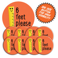 Social Distancing Buttons • Orange Ruler