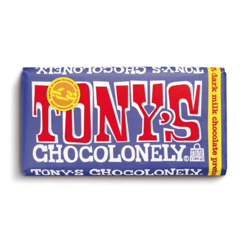 Tony's Chocolonely BIG Dark Chocolate Pretzel Toffee Bar