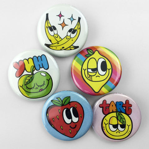 Froot Salad Buttons • Yum Pack