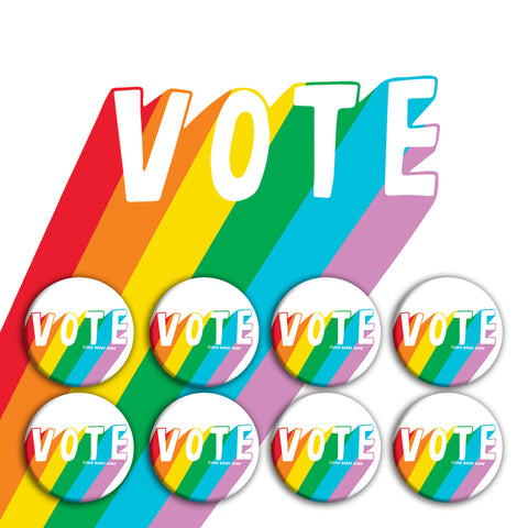 Rainbow Vote Buttons