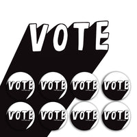 Black & White Vote Buttons