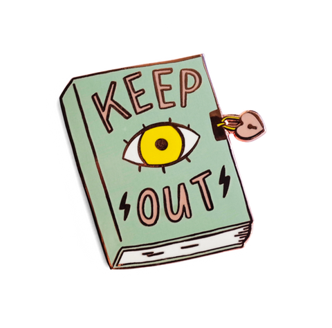 Keep Out Pin by Tuesday Bassen