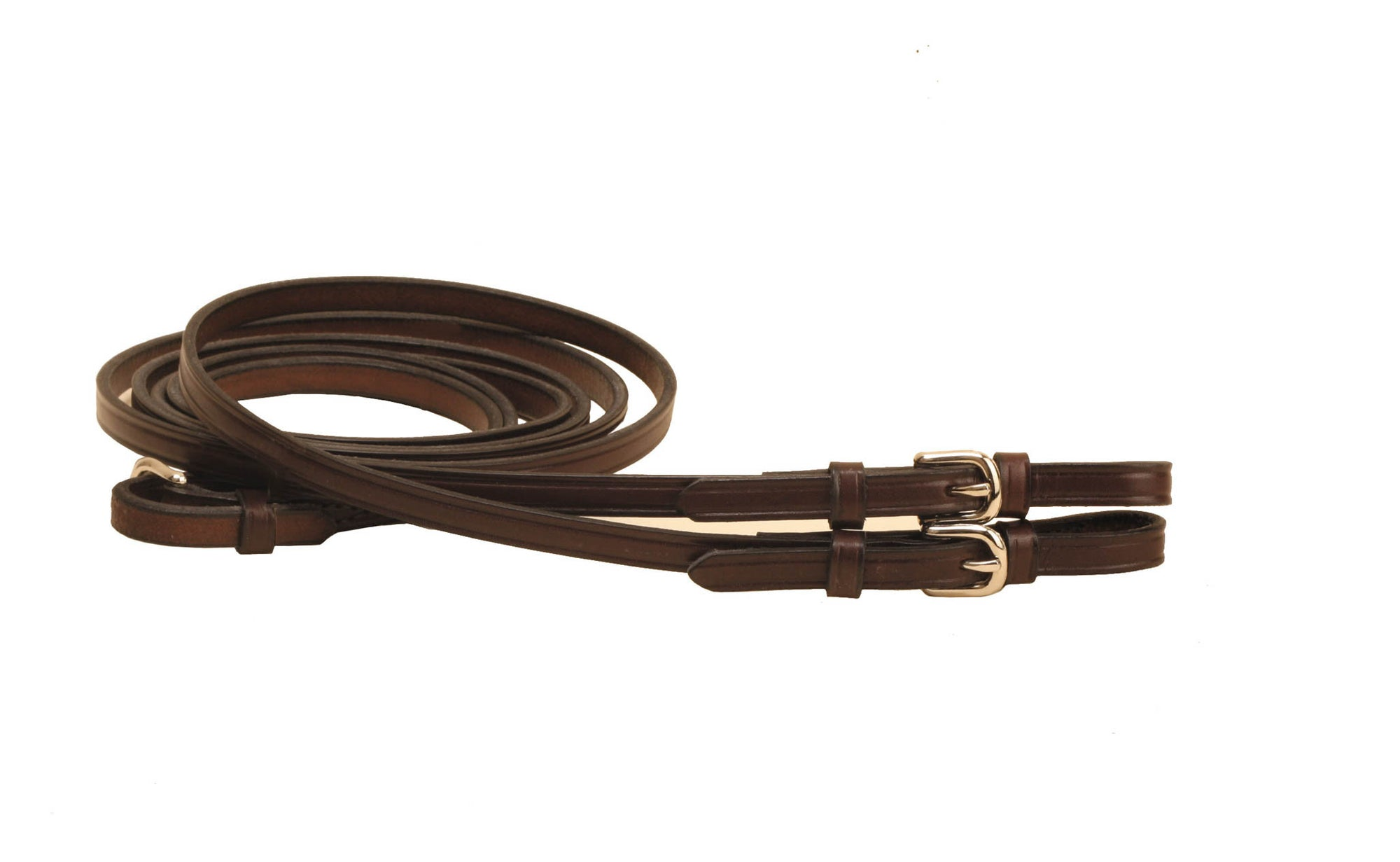 "1/2"" Flat Rein With Buckle Bit Ends"