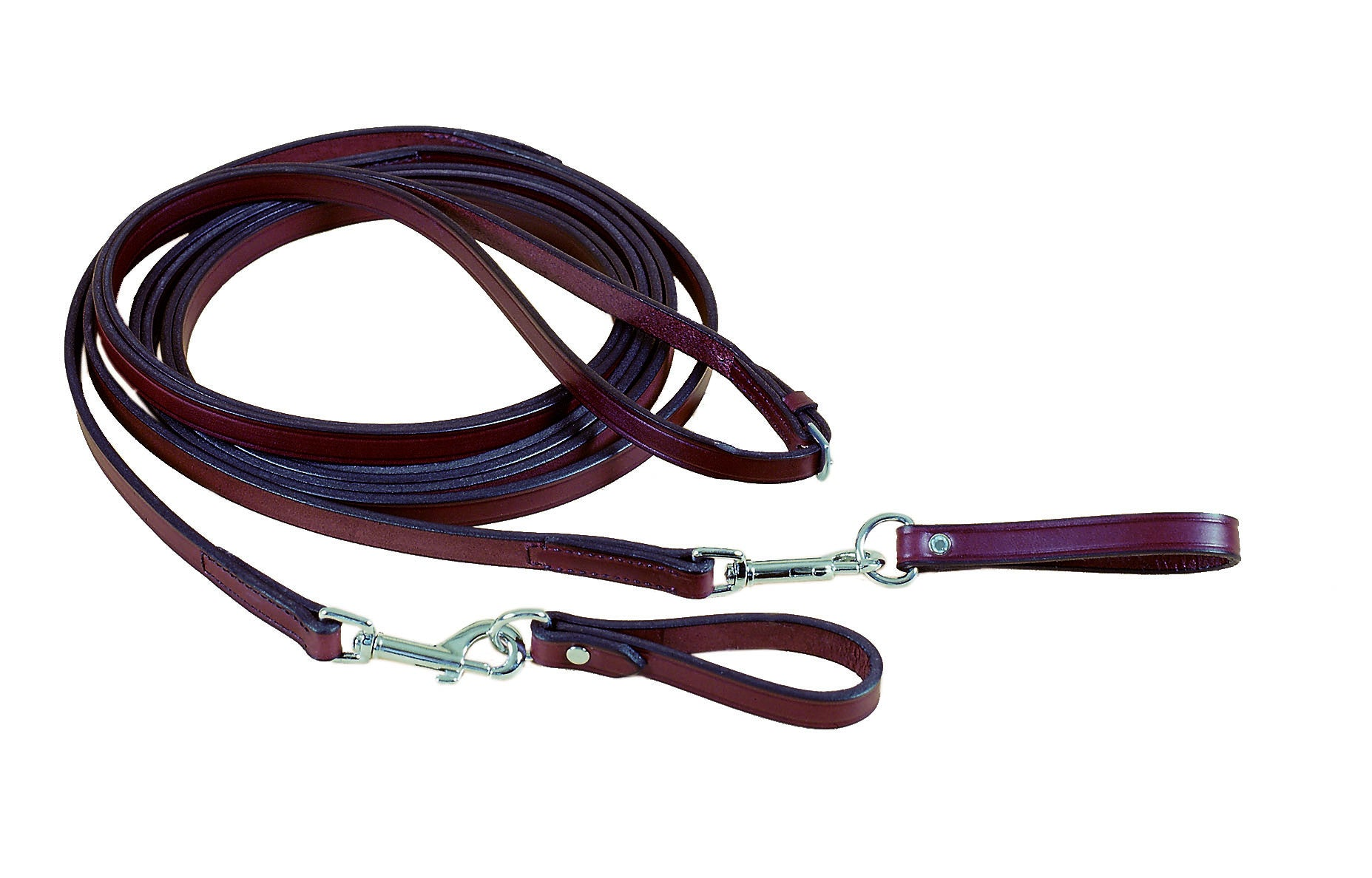 Long Bridle Leather Draw Rein With Girth Loops