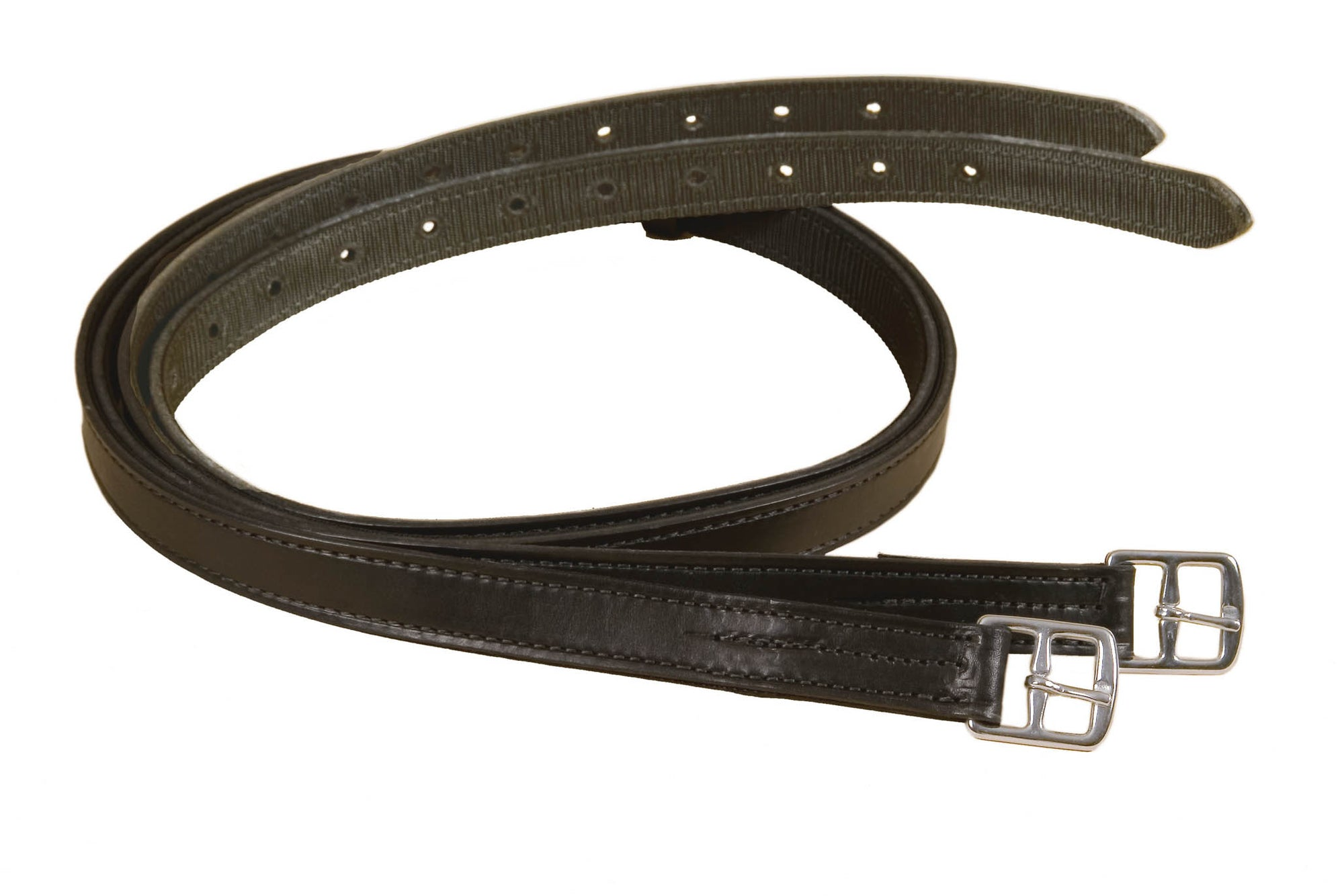 "60"" Non Stretch Stirrup Leathers Backed With Nylon"