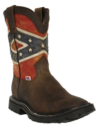 Women's Rockin Leather Confederate Flag Boot