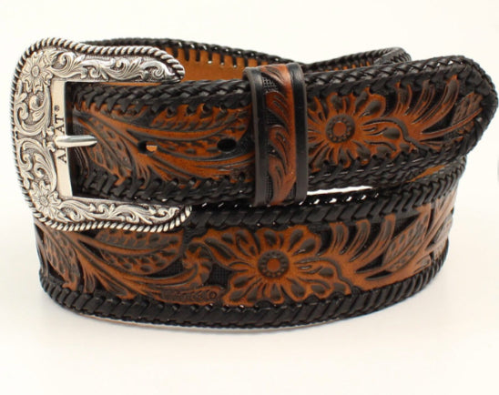 Ariat Tooled Floral Laced Trim Belt