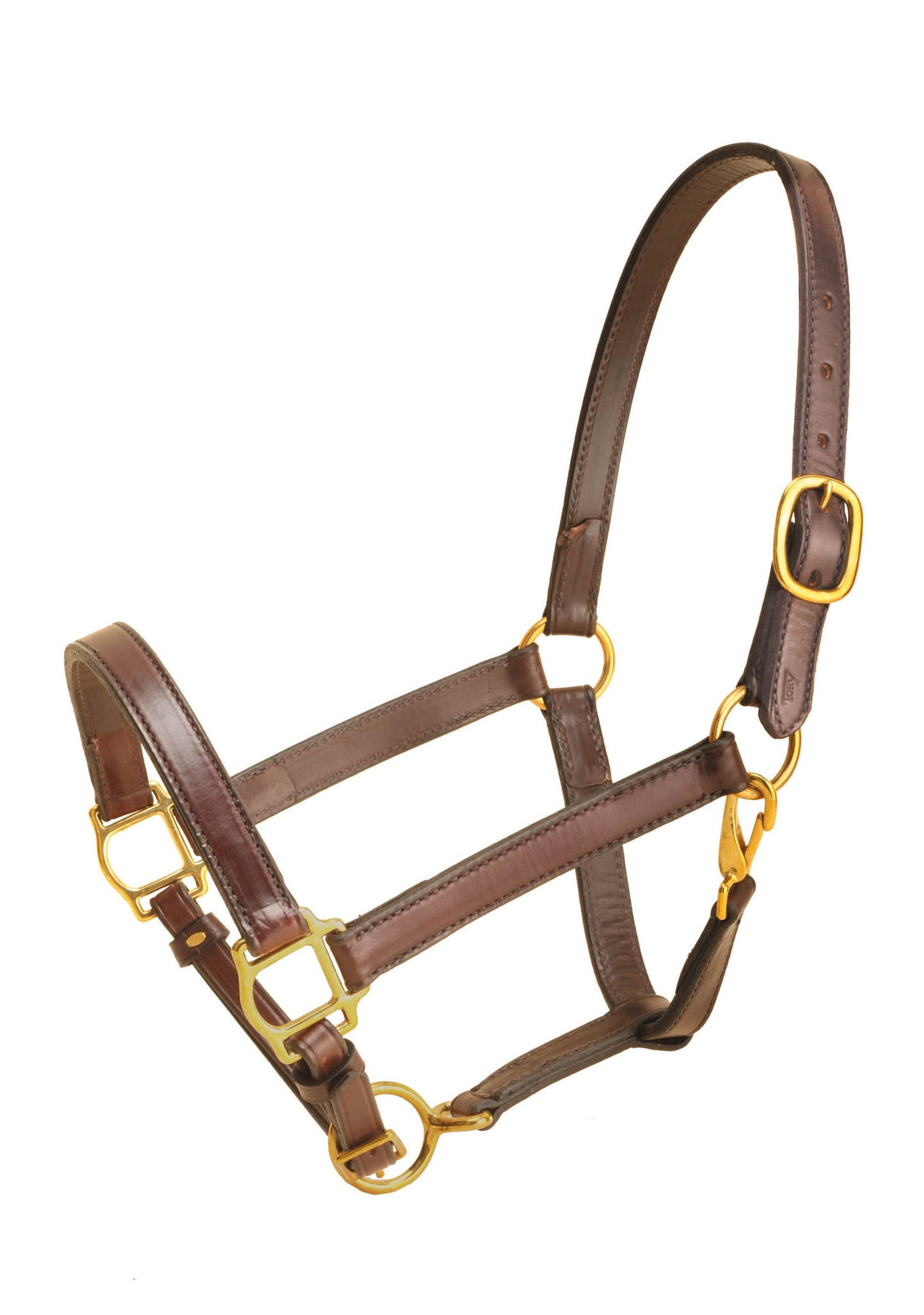 "Tory Leather 1"" Cob Halter With Single Crown Buckle, Snap Throat"