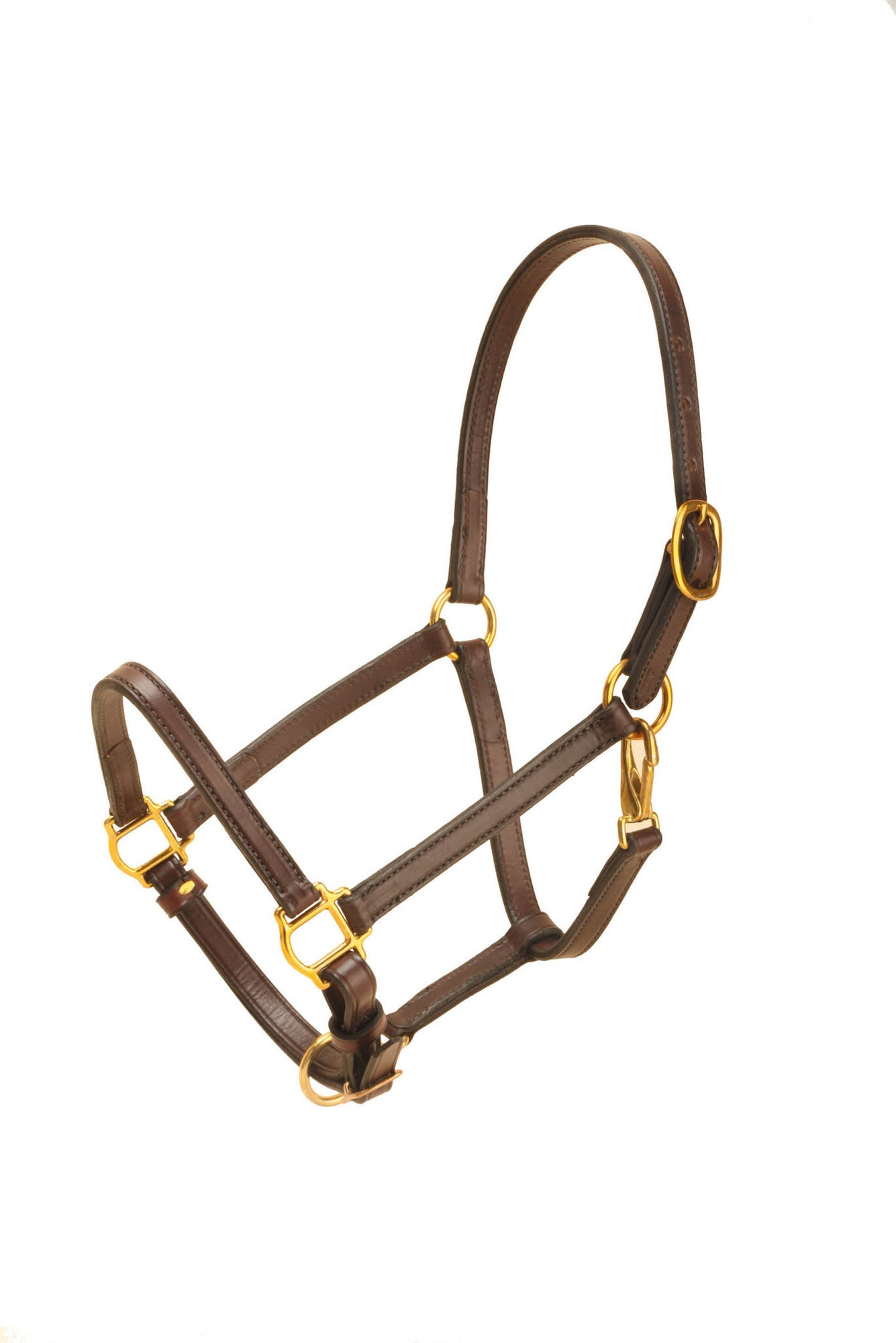 "Tory Leather 3/4"" Cob Halter Single Crown Buckle, Snap Throat"