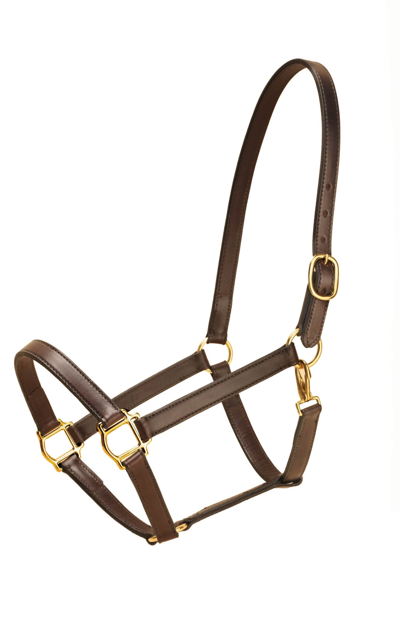 "Tory Leather 1"" Warmblood Halter  Single Crown Buckle"