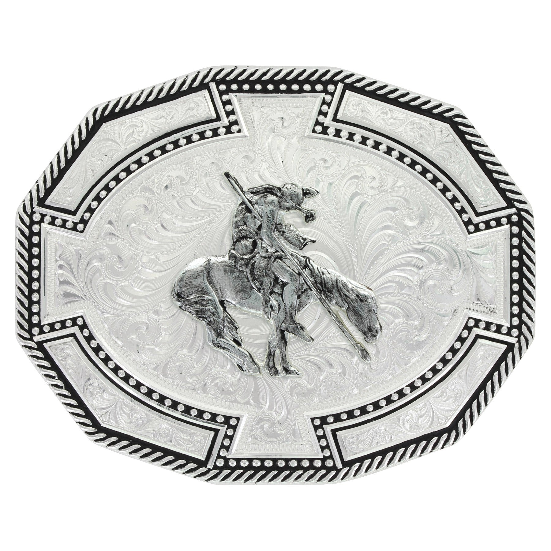 Montana Silversmith's Bordertown Buckle with End of Trail