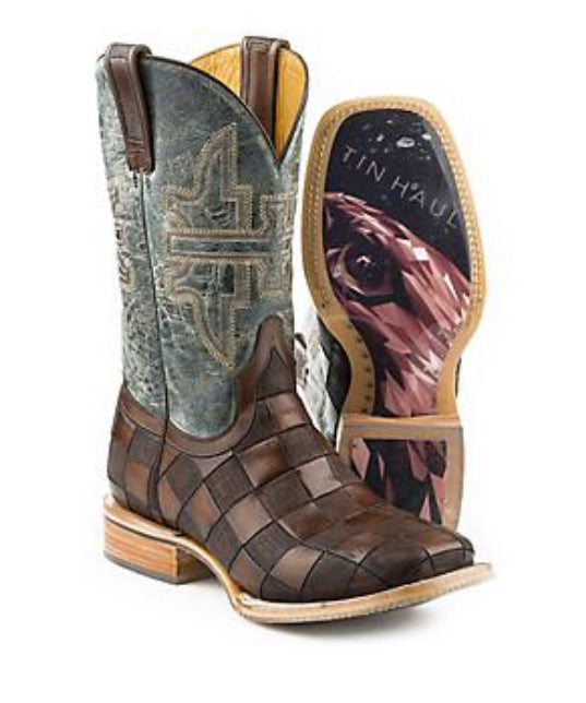 Men's Tin Haul Desert Eagle with Geometric Sole Boot