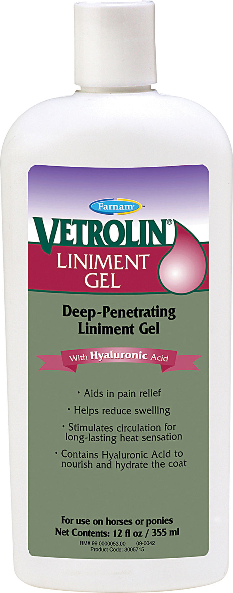 VETROLIN LINIMENT GEL WITH HA FOR EQUIN