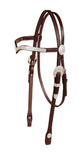 Tory Leather Oklahoma Silver Full Plate V-Brow Headstall
