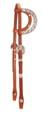 Tory Leather Oklahoma Silver Double Ear Headstall