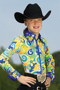 Girl's Hobby Horse Flower Power Top
