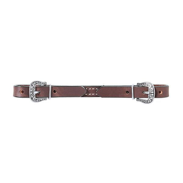 Basin Cowboy All Leather Curb Strap