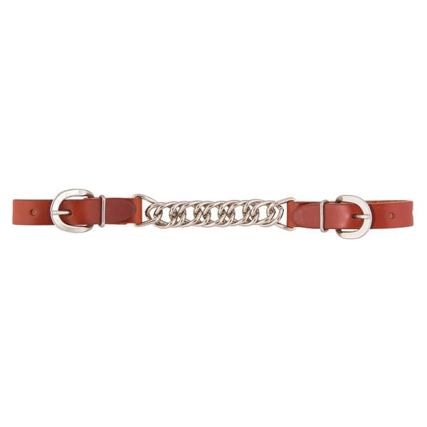 "Weaver Skirting Leather 4-1/2"" Single Link Chain Curb Strap"