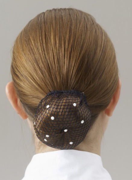 Show Quest Black Mesh Bun Net