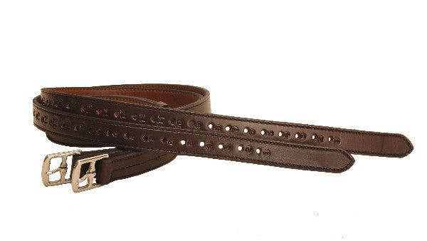 "Tory Leather 1"" X 54"" Half-Hole Stirrup Leathers"