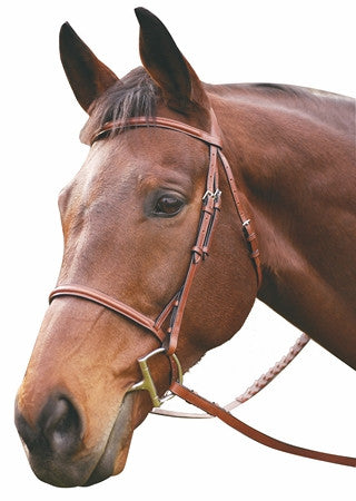HDR Advantage Plain Raised Snaffle Bridle With Laced Reins