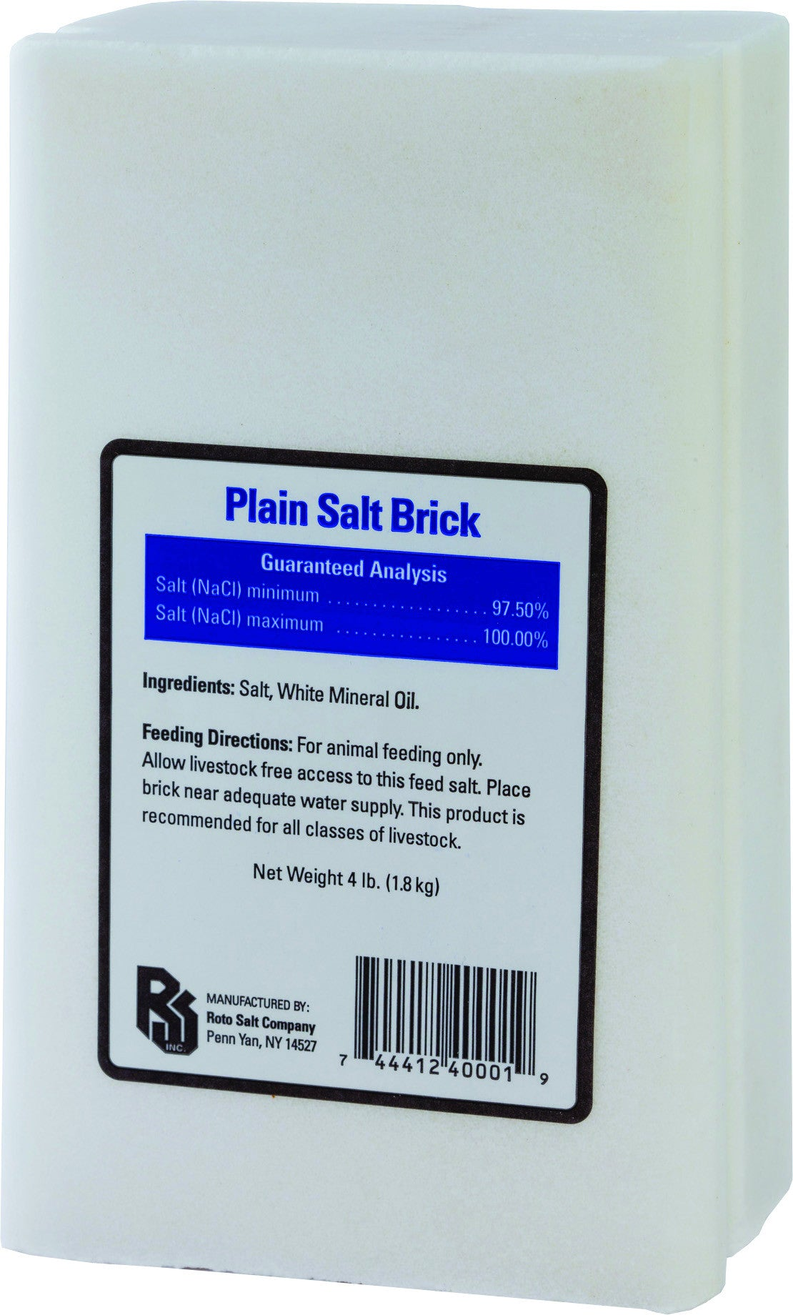 Plain White Salt Brick For Livestock