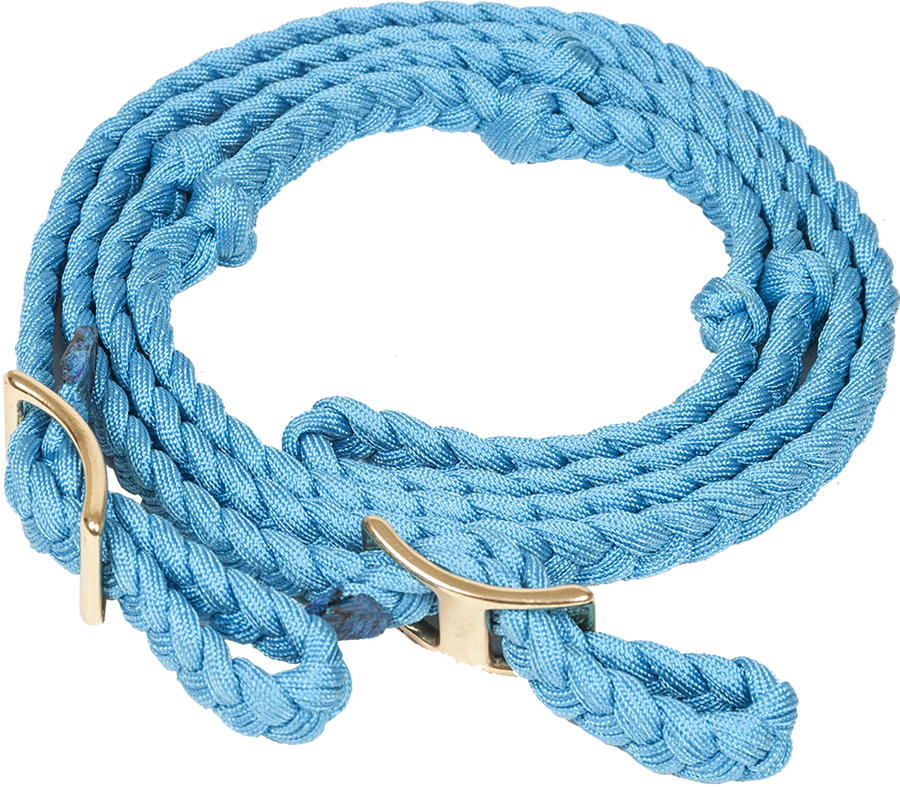 Mustang Nylon Flat Braided Knotted Barrel Rein