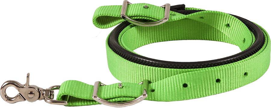 Mustang Nylon Webbing Contest Rein With Rubber Grip