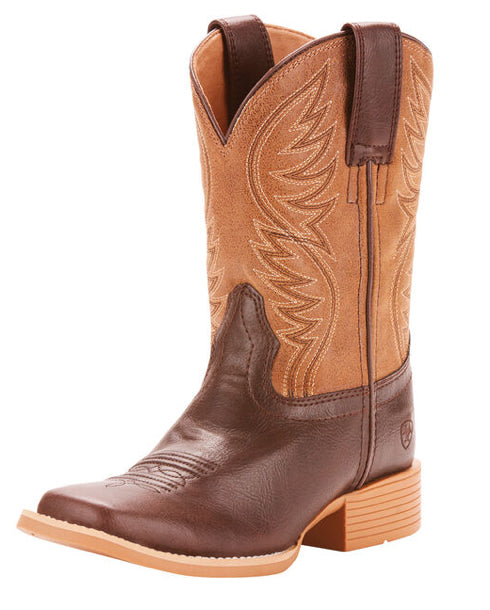 Kid's Ariat Brumby Western Wide Square Toe Boots