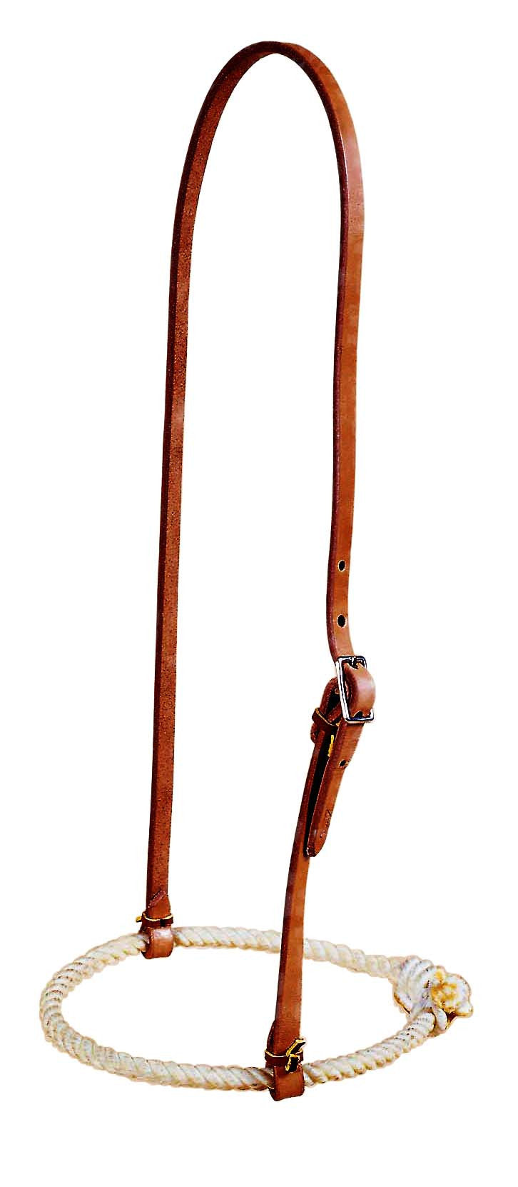 Waxed Rope Noseband with Leather Headstall