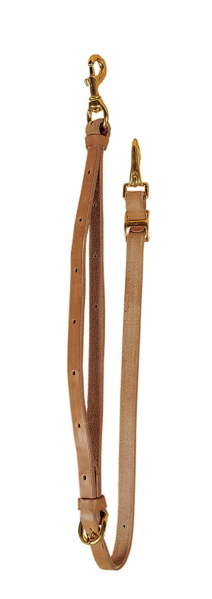 "Tory Leather 3/4"" Harness Leather Tie Down With Solid Brass Hardware"