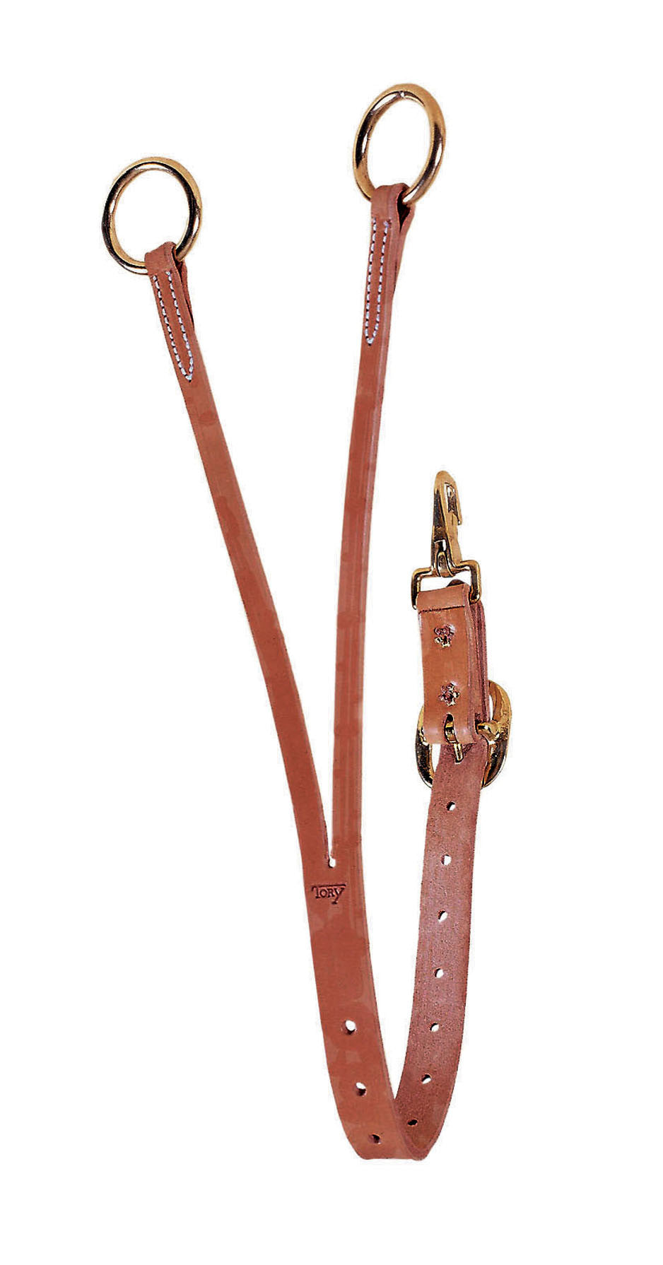 Harness Leather Training Fork with Solid Brass Hardware