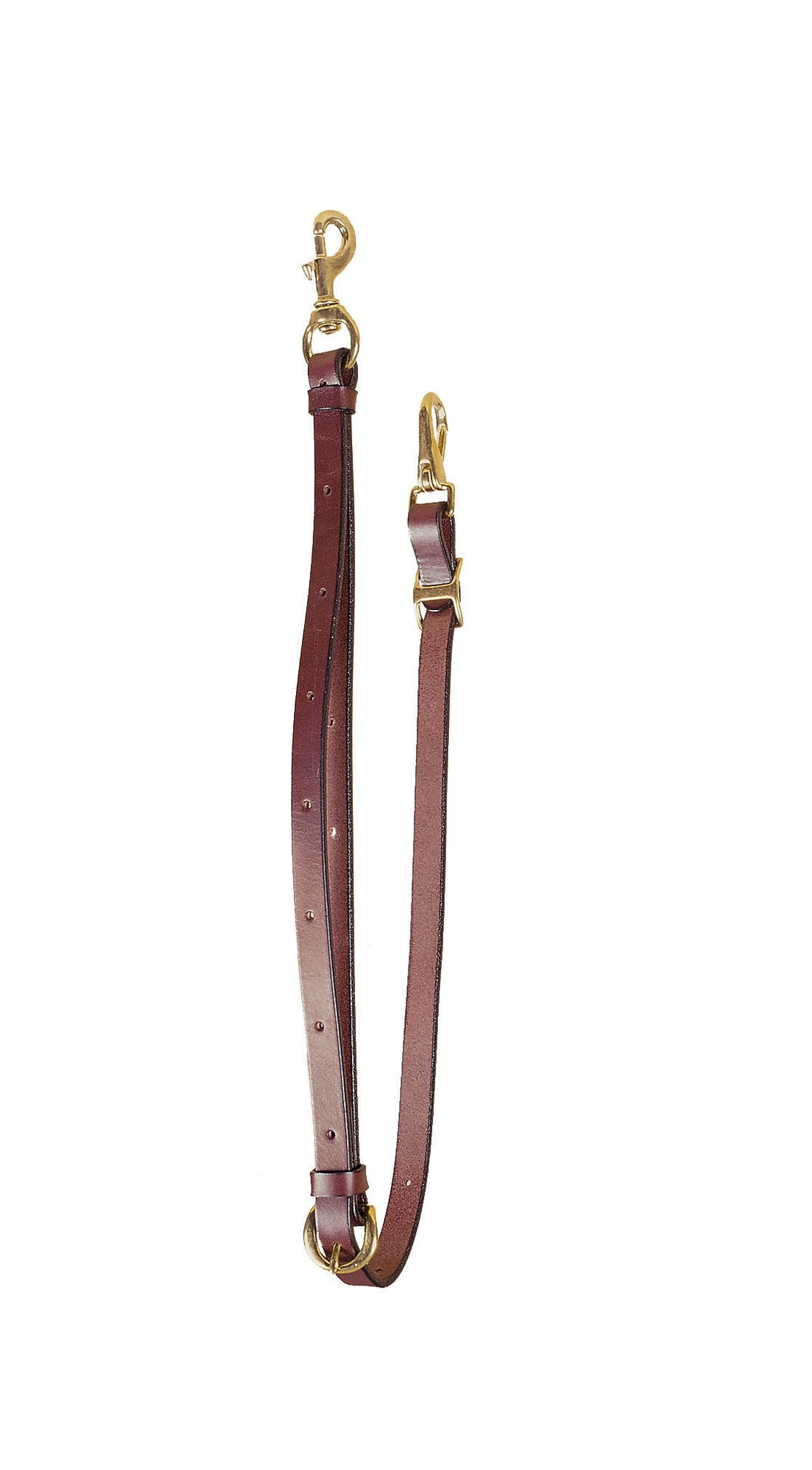 Tory Leather Bridle Leather Tie Down with Solid Brass hardware