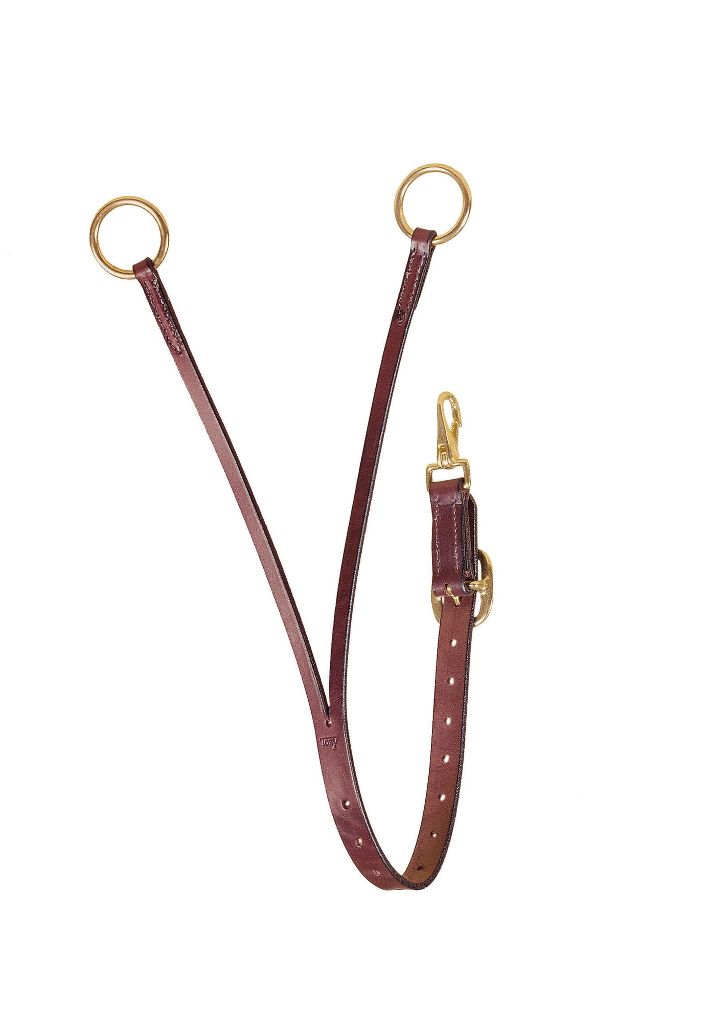 Tory Leather Bridle Leather Training Fork with Solid Brass Hardware