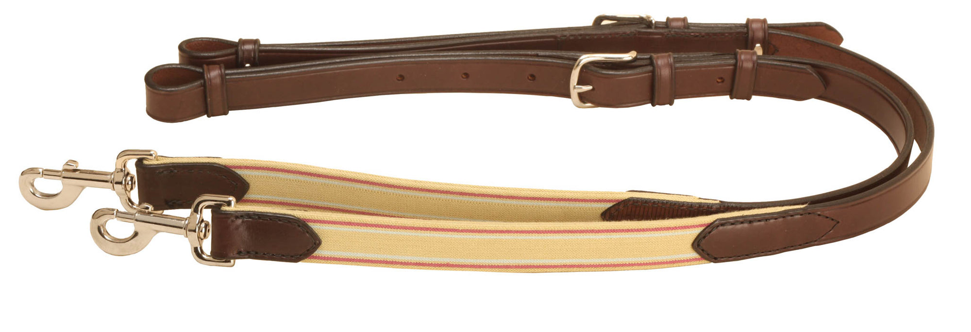 "1"" Leather & Elastic Side Rein With Tongue Buckle"