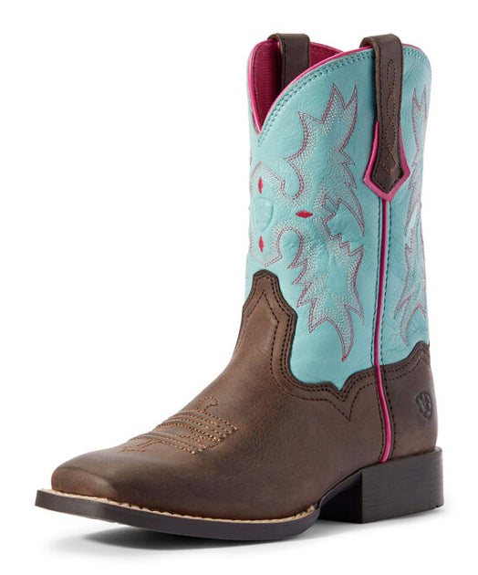Kid's Ariat Tombstone Western Wide Square Toe Boots