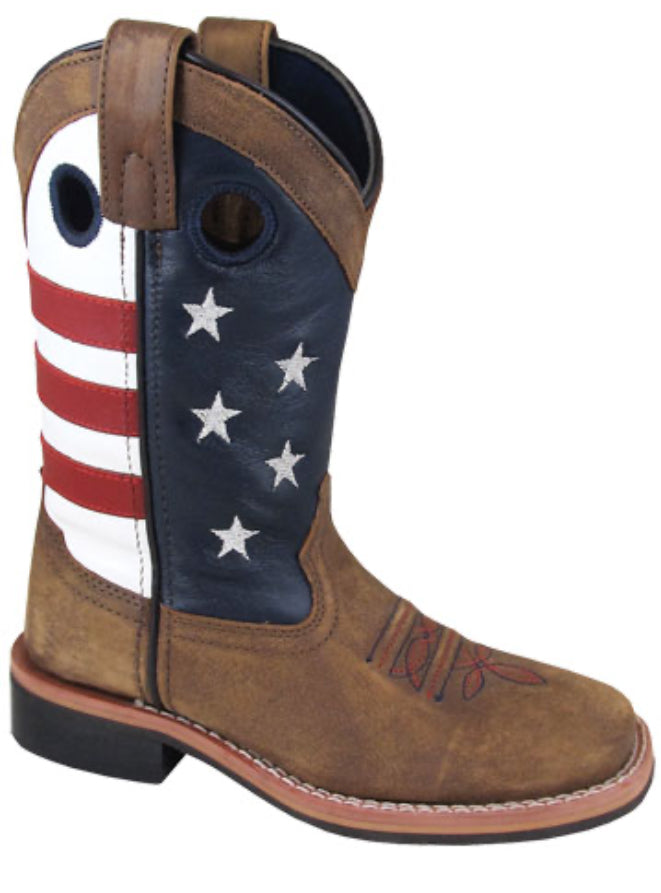 Kid's Smoky Mountain Stars and Stripes Boots