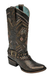 Ladies' Corral Copper/Red Studded Thunderbird Harness Boot - C2932