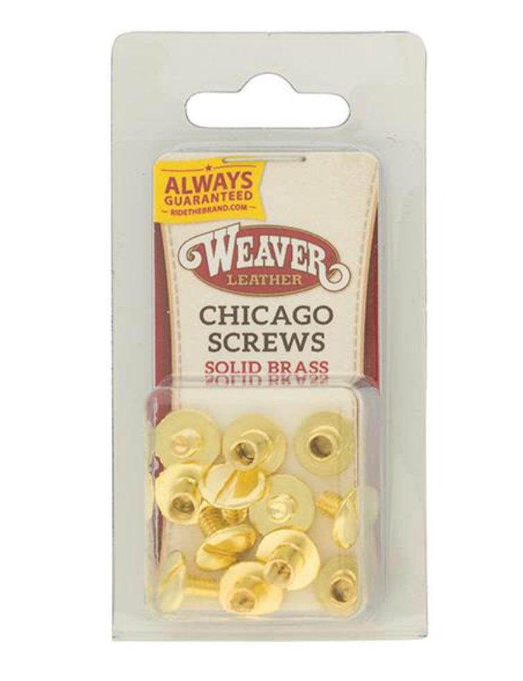 Weaver Chicago Screw Handy Pack Solid Brass, Plain