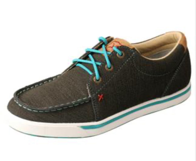 Women's Twisted X Casual Rubberized Brown/ Turquoise - WCA0029