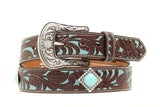 Girl's Ariat Flower Overlay Belt