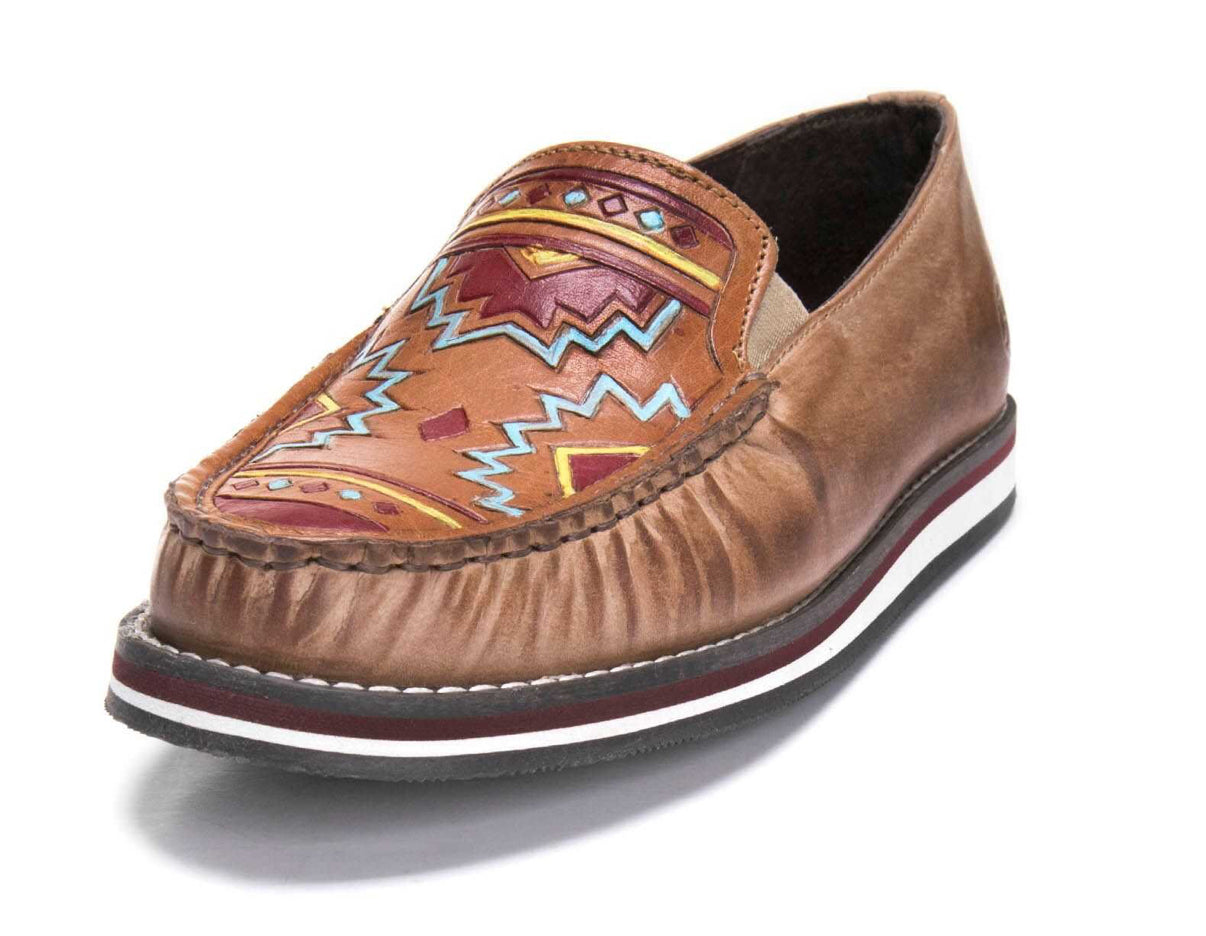 Women's Roper Pocahontas-Tan Moccasin Shoe