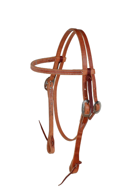 Berlin Leather Straight Browband Headstall with Tie