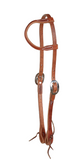Berlin Leather Rolled One Ear Headstall with Tie